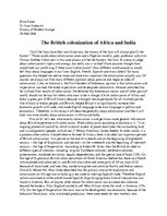 Эссе 'The British Colonization of Africa and India', 1.