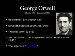 "Презентация 'Book Report. George Orwell ""1984""', 2."
