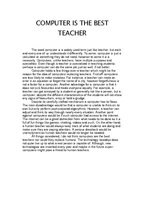 essay on an idle teacher