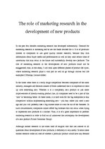 Реферат 'The Role of Marketing Research in the Development of Products', 1.