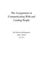 Реферат 'Communicating With and Leading People', 1.