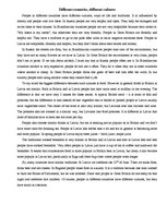 different country different culture essay Below is an essay on life in another country from anti when you move to a new country, you have to live in a new culture they are two different kinds of.