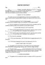 Образец договор на бартер